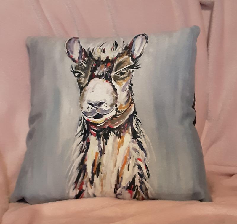 Lazy Hill Lama Cushion