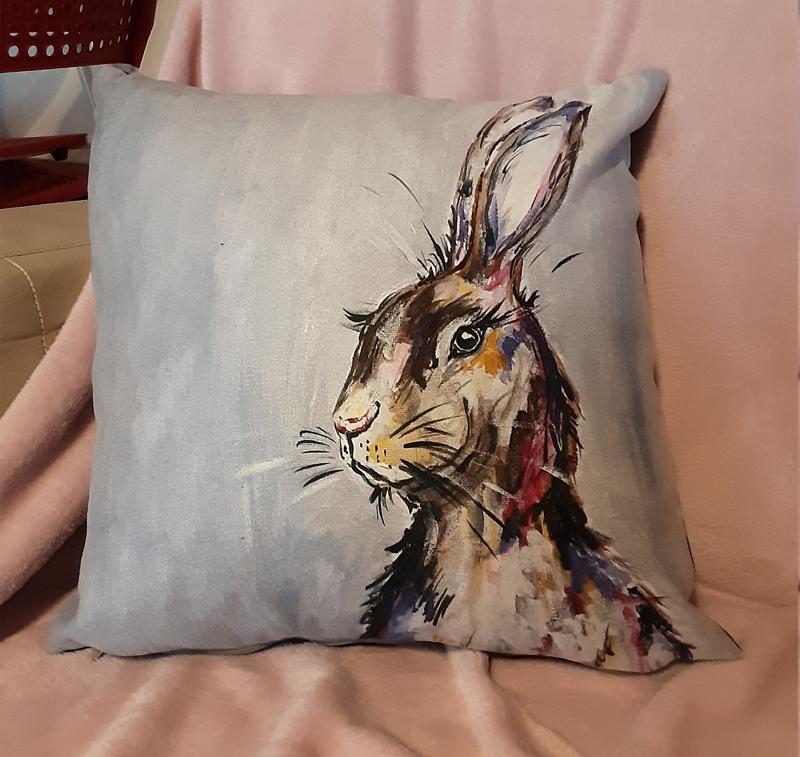 Rostrevor Rabbit Cushion